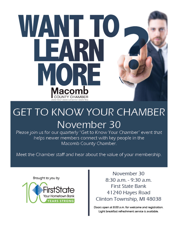 Get to know your chamber November 30